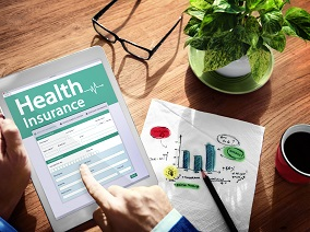 Digital Health Insurance Application Concept